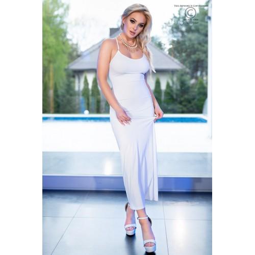 Langes Kleid CR4379 weiß - 1