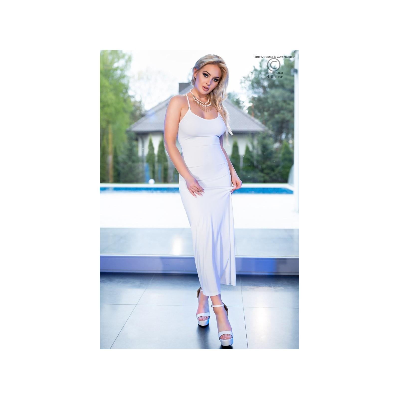 Langes Kleid CR4379 weiß - 1 - Vorschaubild