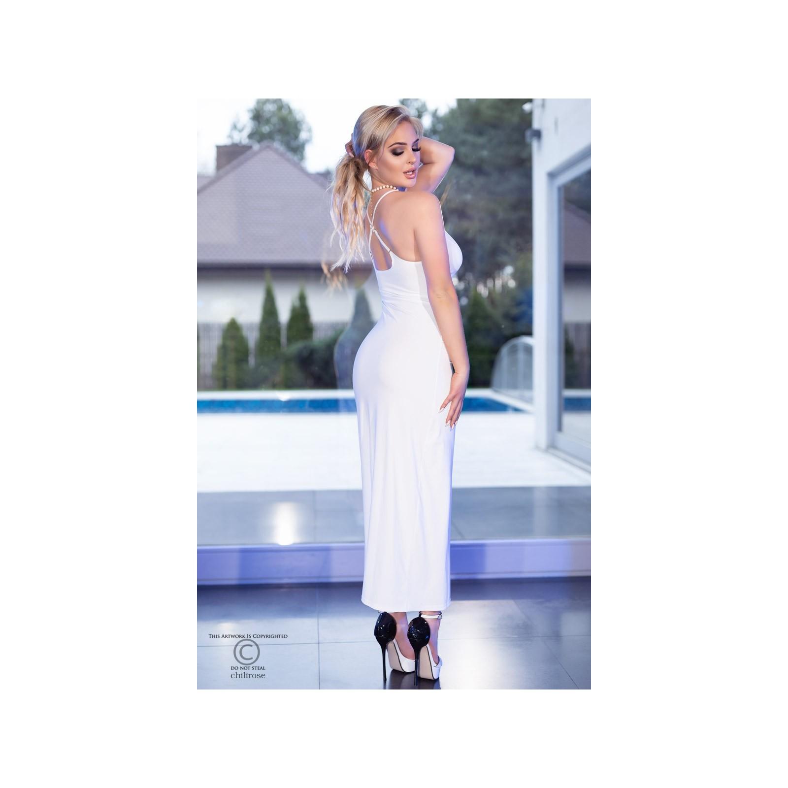Langes Kleid CR4379 weiß - 2 - Vorschaubild