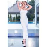 Langes Kleid CR4379 weiß - 5