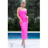 Langes Kleid CR4379 hot pink - 1