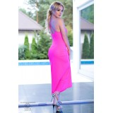 Langes Kleid CR4379 hot pink - 2