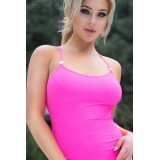 Langes Kleid CR4379 hot pink - 3
