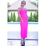 Langes Kleid CR4379 hot pink - 5
