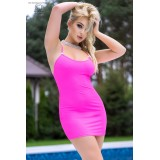 Minikleid CR4380 hot pink - 1