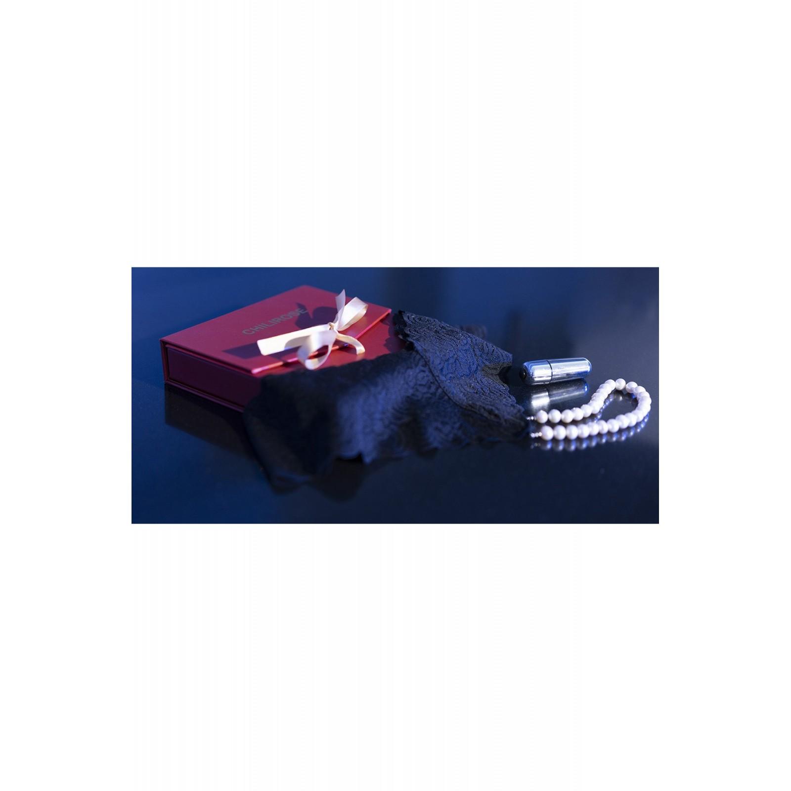 Perlenstring schwarz + Minivibrator CR4395 - 3 - Vorschaubild