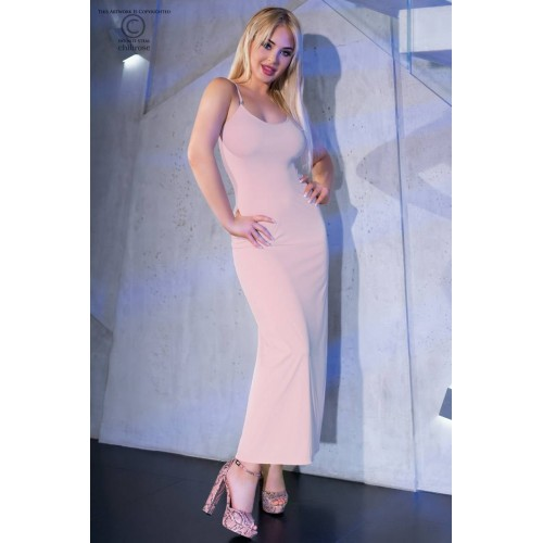 Langes Kleid CR4379 light pink - 1