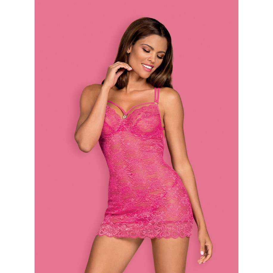 860-CHE-5 Chemise pink - 1