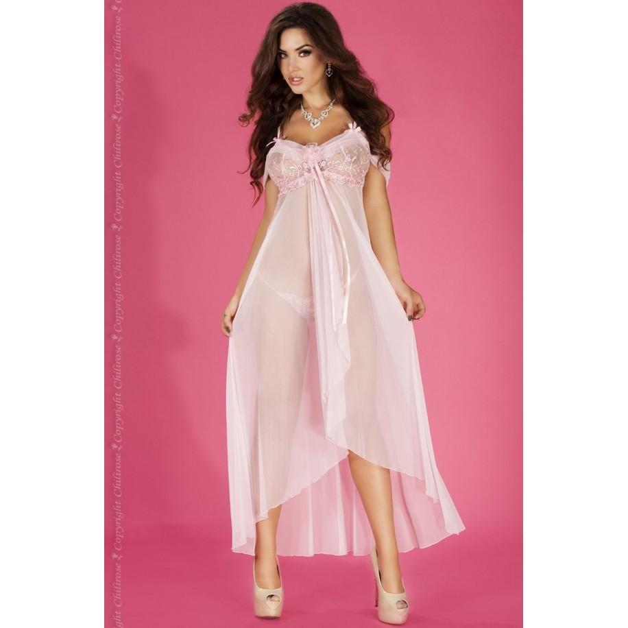 Langes Babydoll CR3716 pink - 1