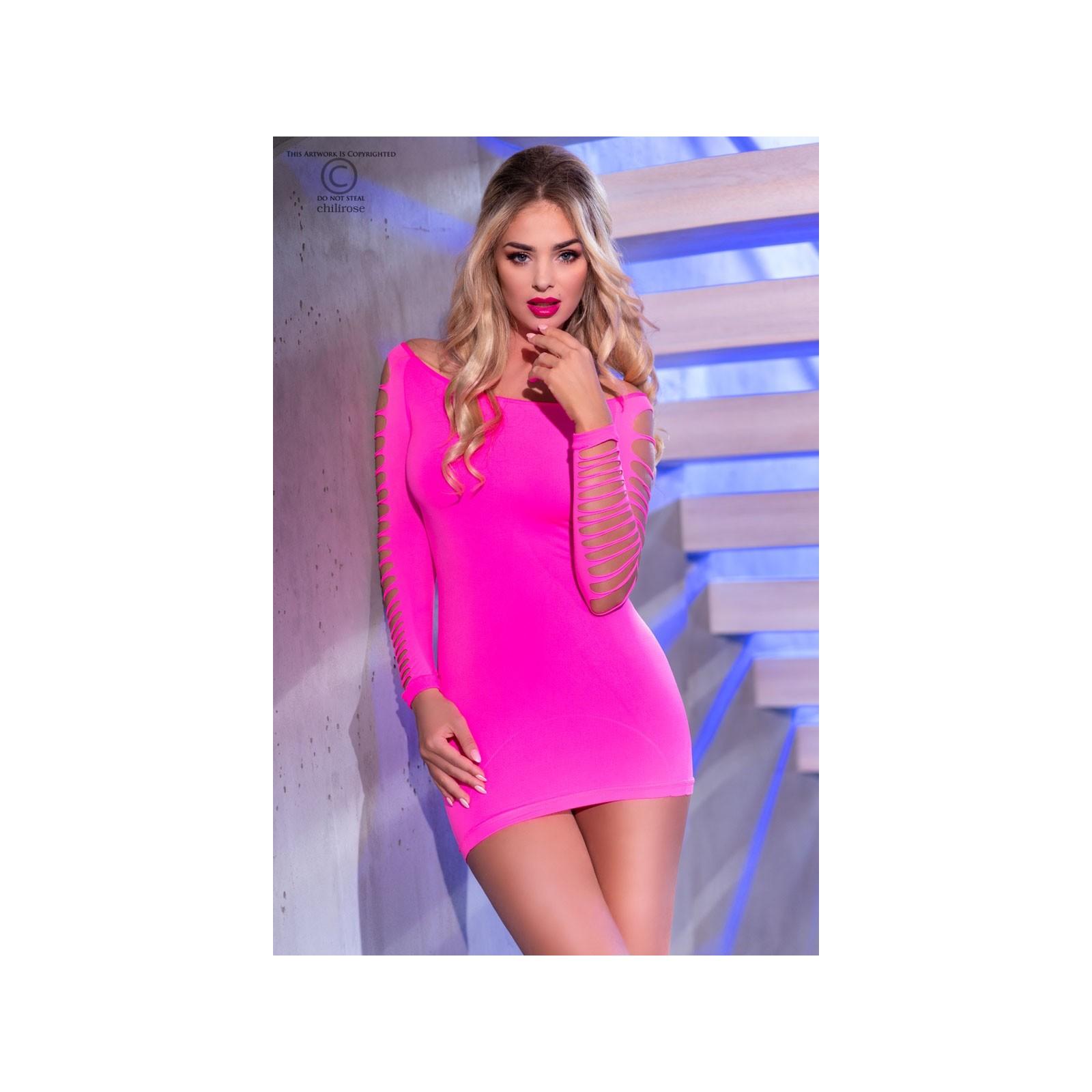 Nahtloses Minikleid CR3608 pink - 1 - Vorschaubild