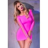 Nahtloses Minikleid CR3608 pink - 2