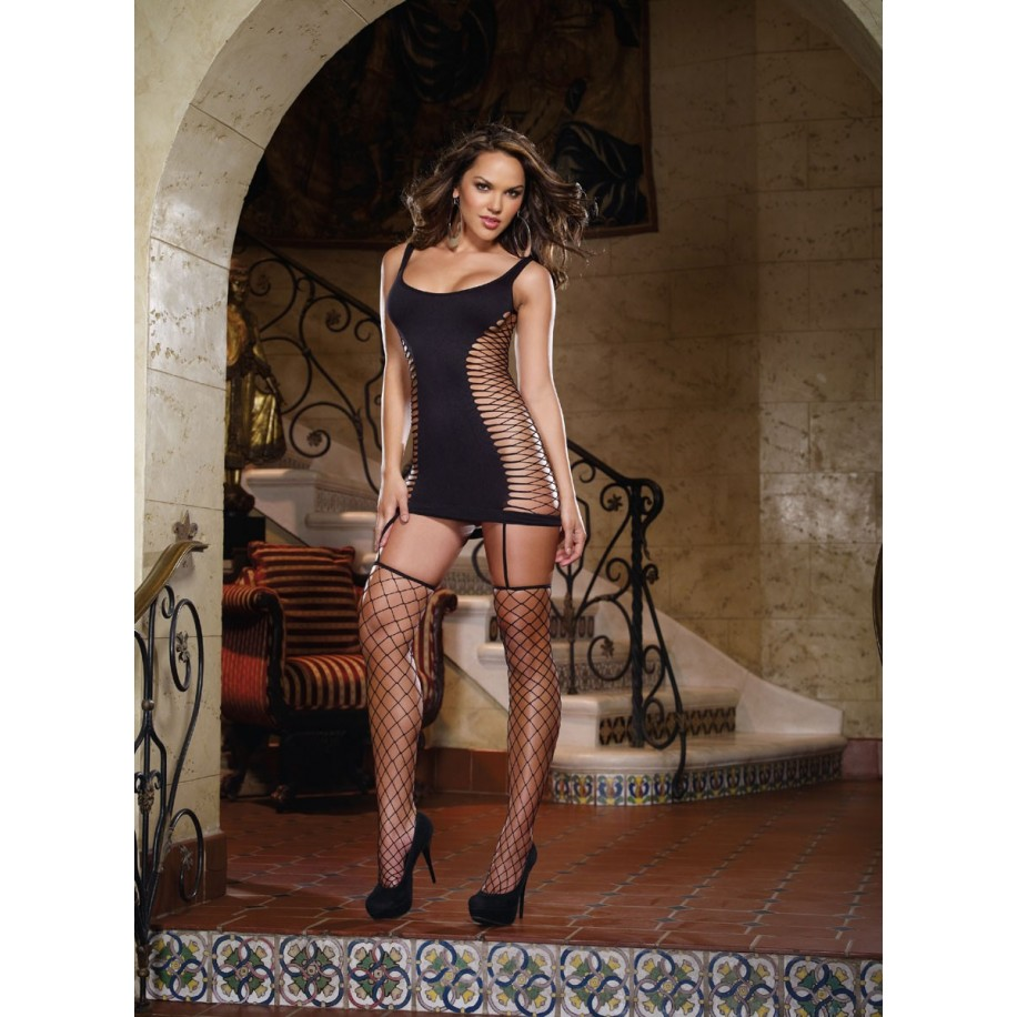Garter Dress DR0102 schwarz - 1