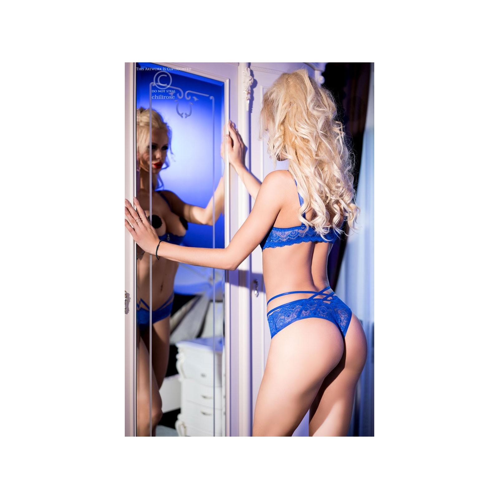 Spitzen-Set CR3784 blau - 2 - Vorschaubild
