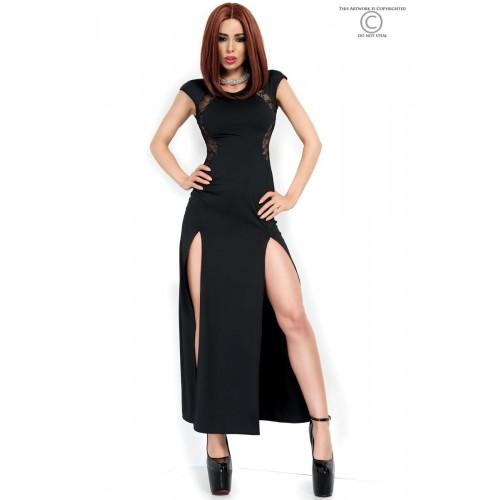 Langes Kleid CR3858 schwarz - 1