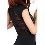 Langes Kleid CR3858 schwarz - 4