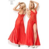 Langes Babydoll CR3470 rot - 4