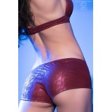 Top + Shorts CR4019 bordeaux - 4