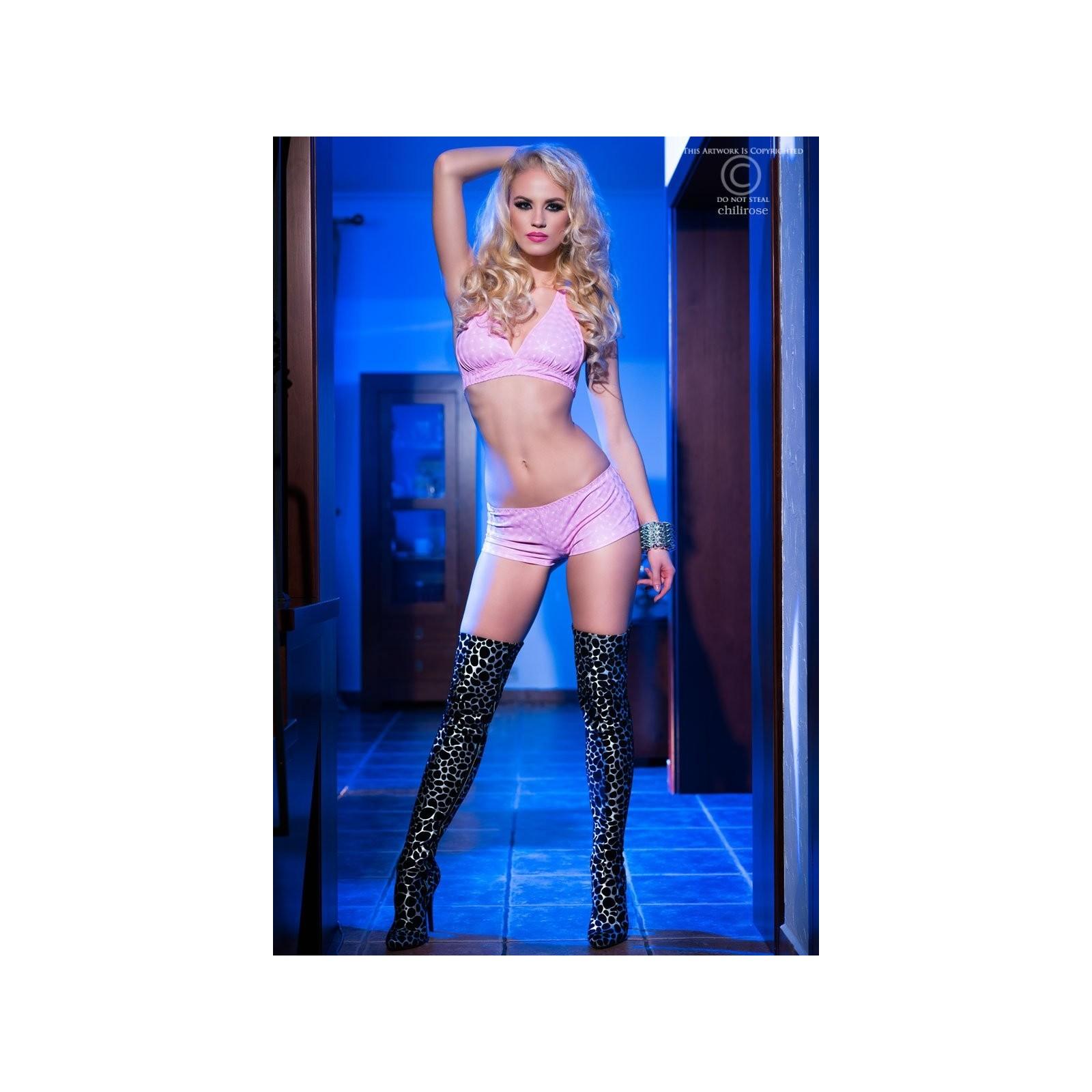 Top + Shorts CR4017 pink - 3 - Vorschaubild