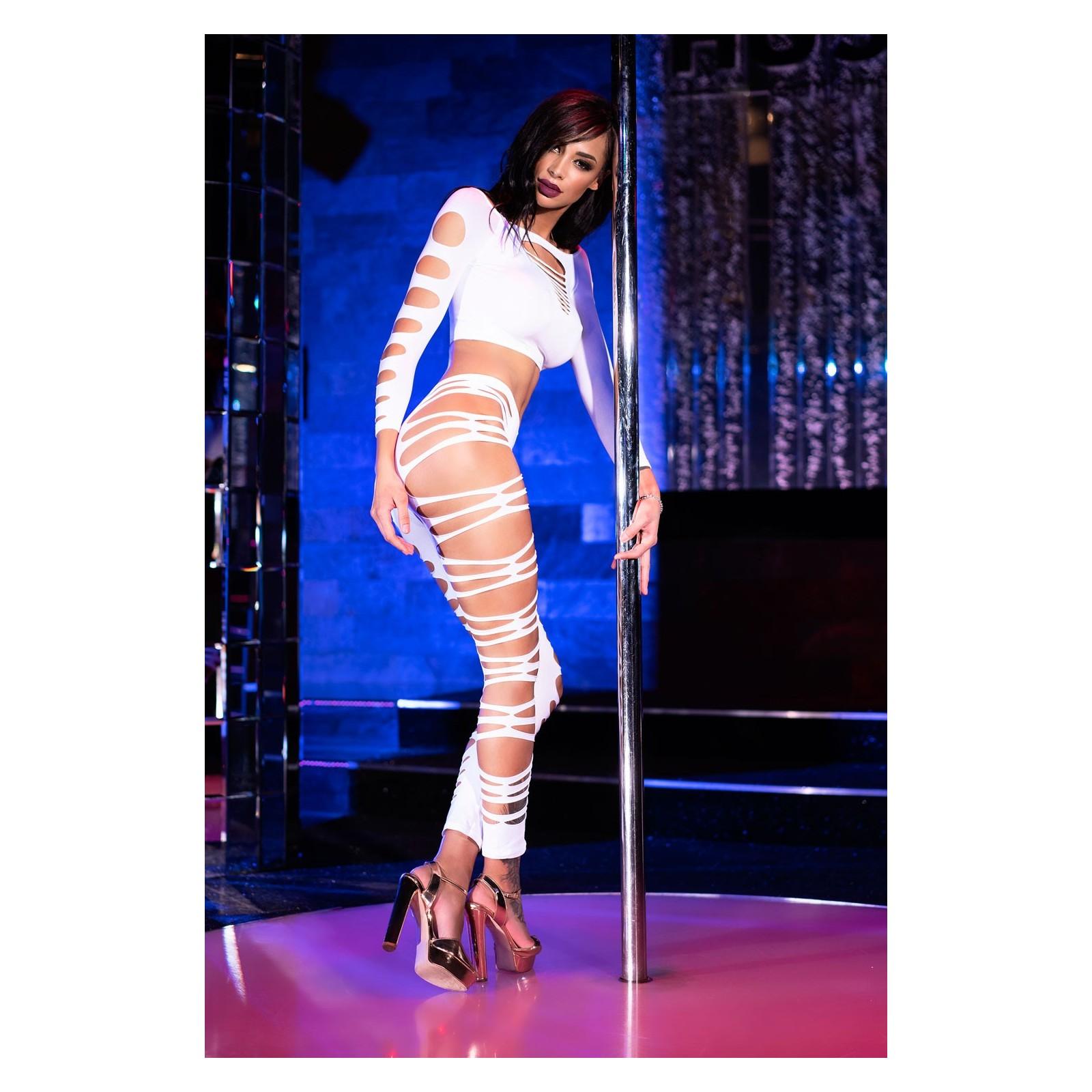 Top + Leggings CR3654 weiß - 2 - Vorschaubild