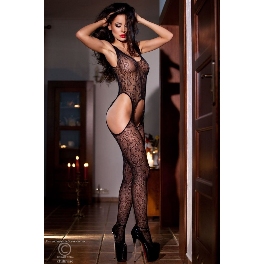 Bodystocking CR4055 schwarz - 1