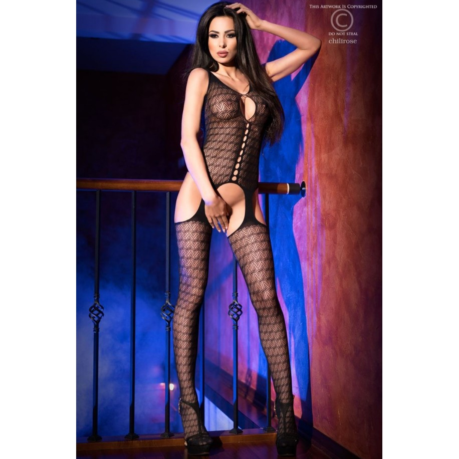 Bodystocking CR4057 schwarz - 1