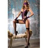 Corsagen-Set schwarz/violett CR4077 - 1 - Vorschaubild