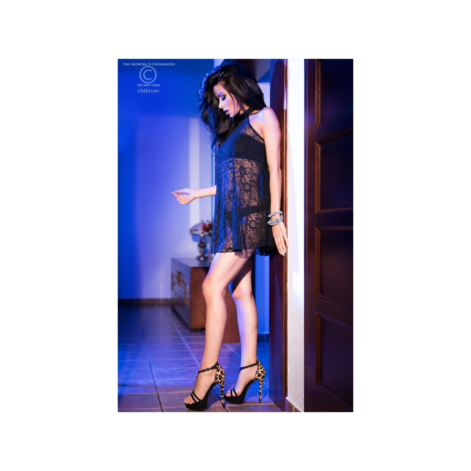 Spitzenkleid + Top schwarz CR4082 - 5 - Vorschaubild