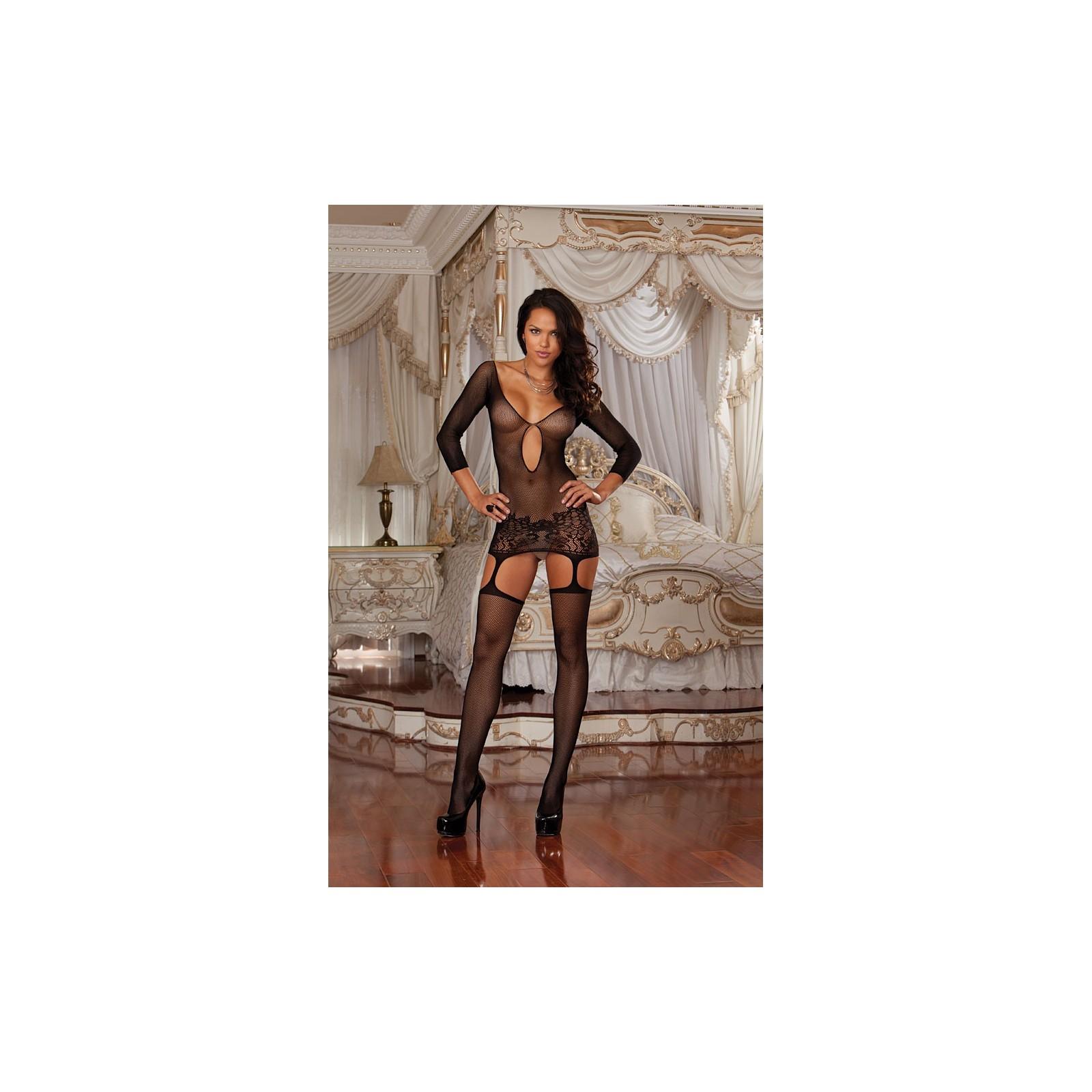 Garter Dress DR0097 schwarz - 1 - Vorschaubild