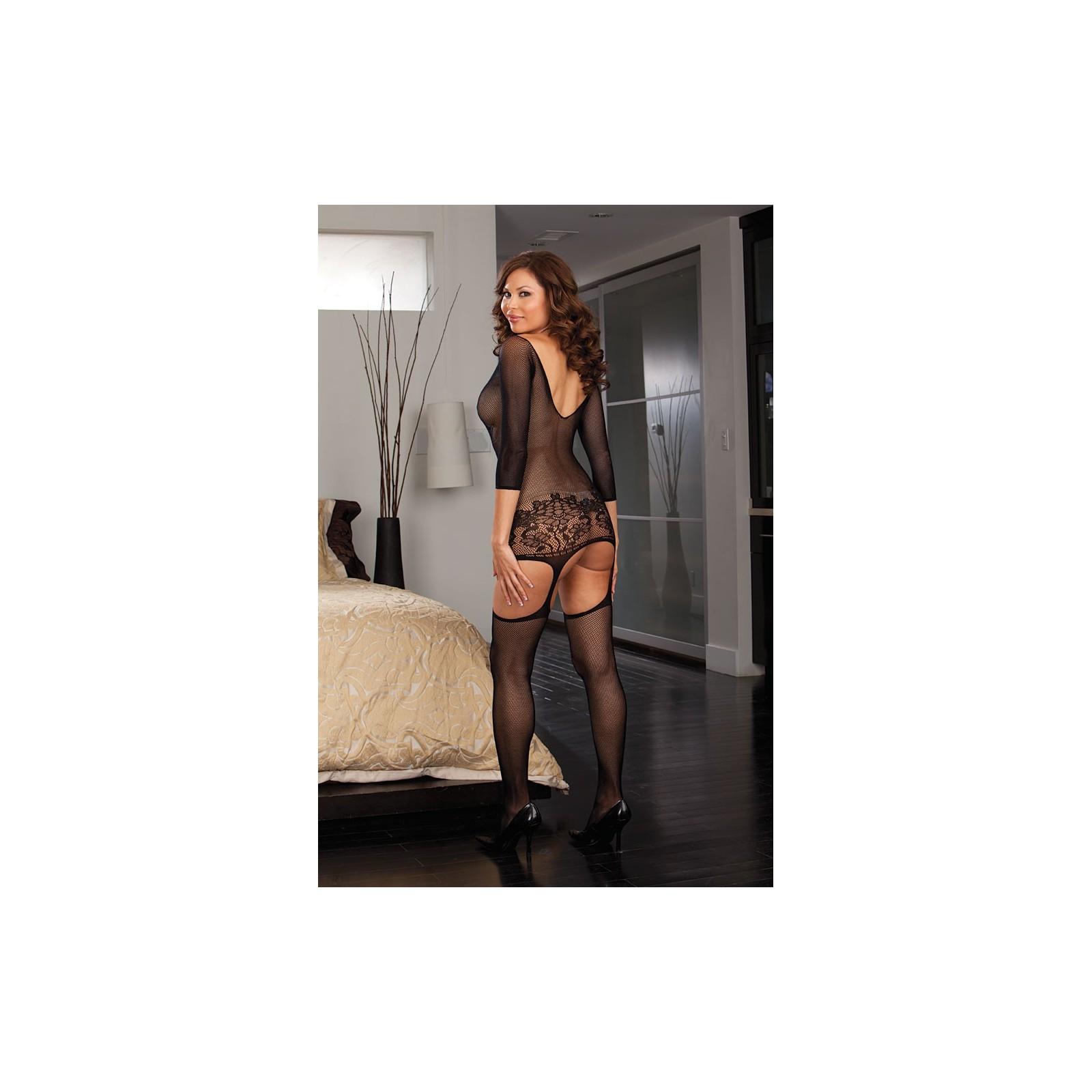 Garter Dress DR0097 schwarz - 4 - Vorschaubild