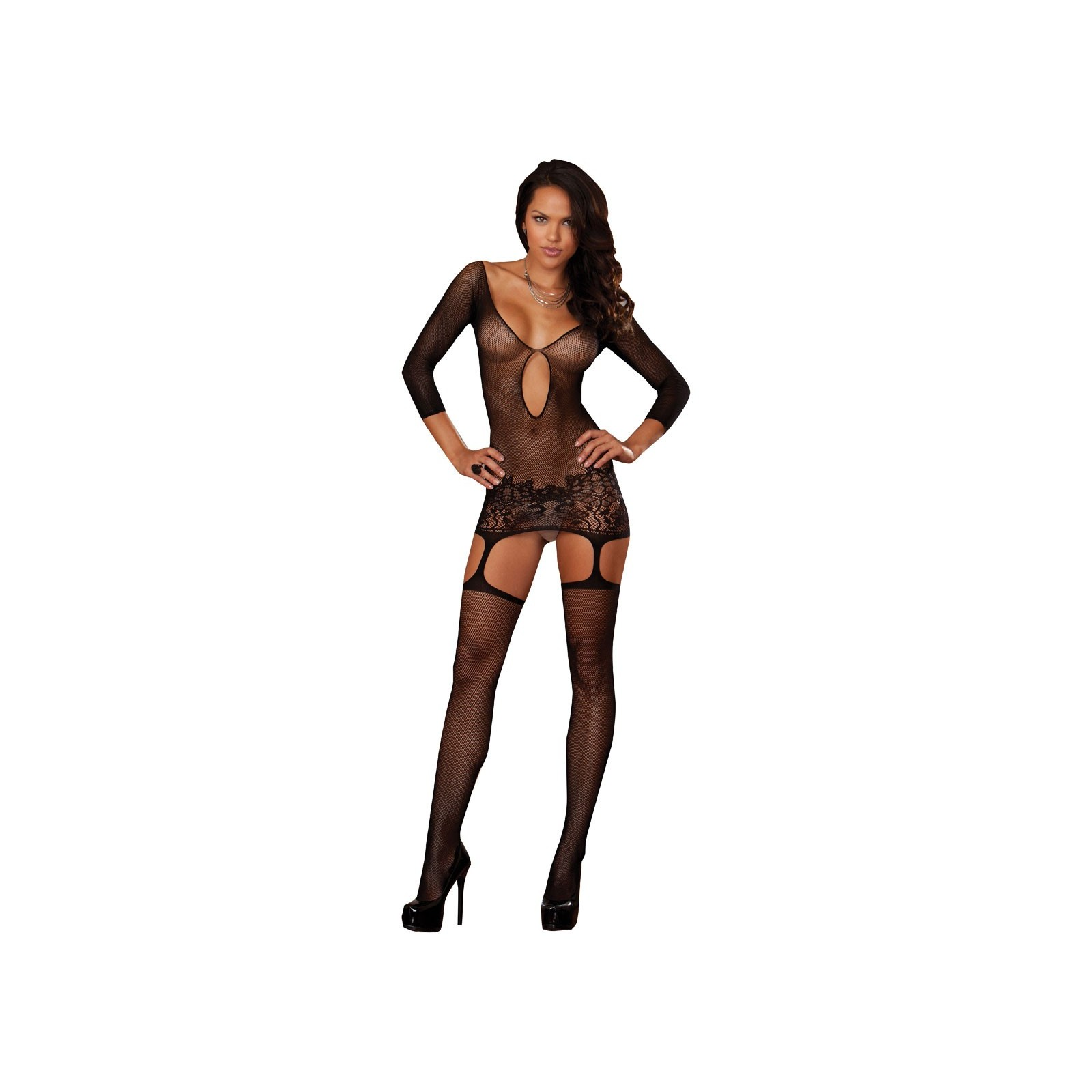 Garter Dress DR0097 schwarz - 5 - Vorschaubild