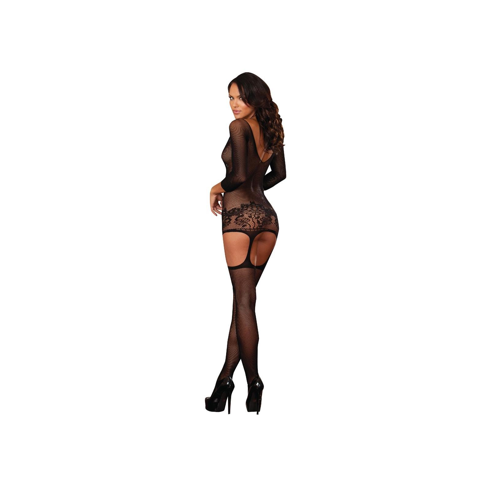 Garter Dress DR0097 schwarz - 6 - Vorschaubild