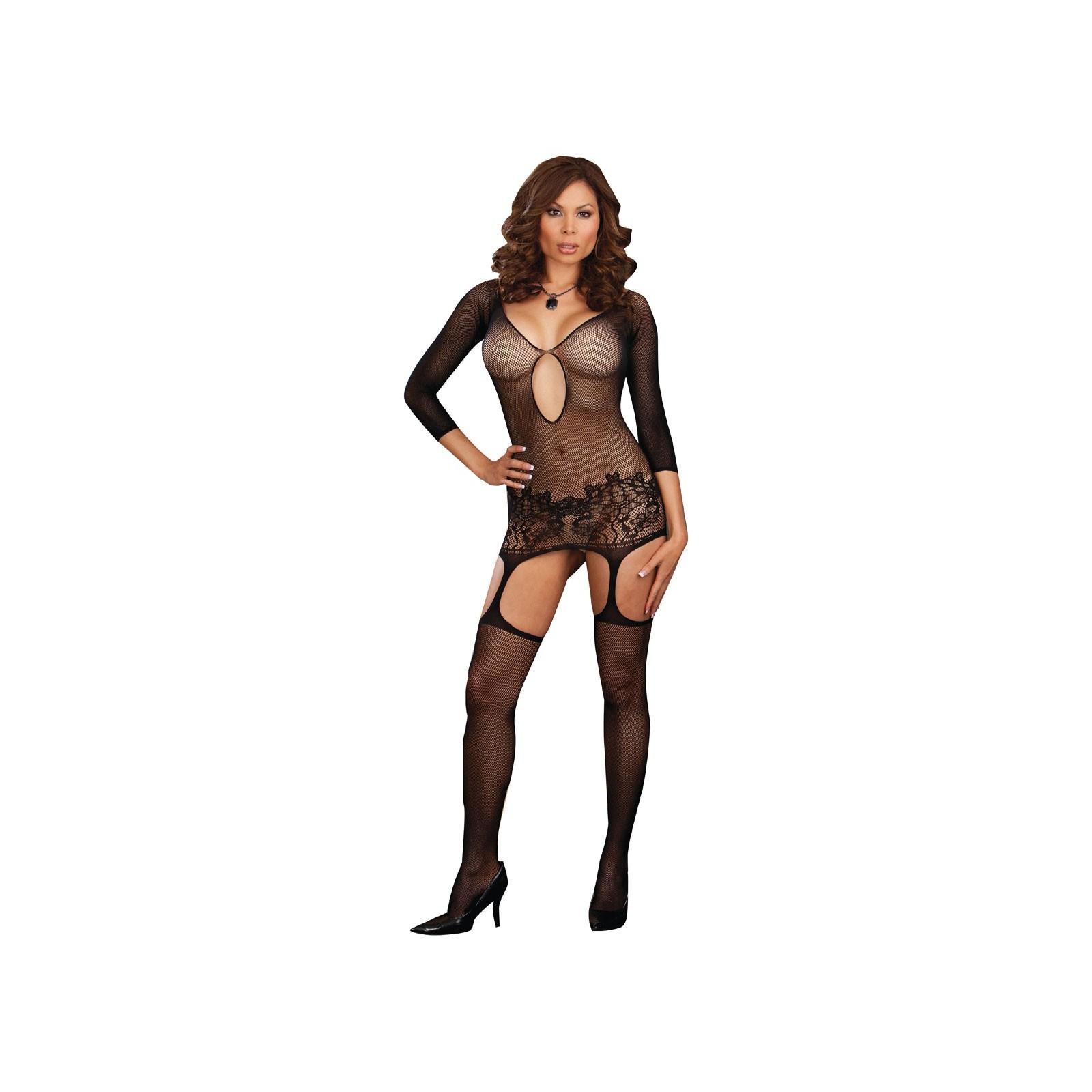 Garter Dress DR0097 schwarz - 7 - Vorschaubild