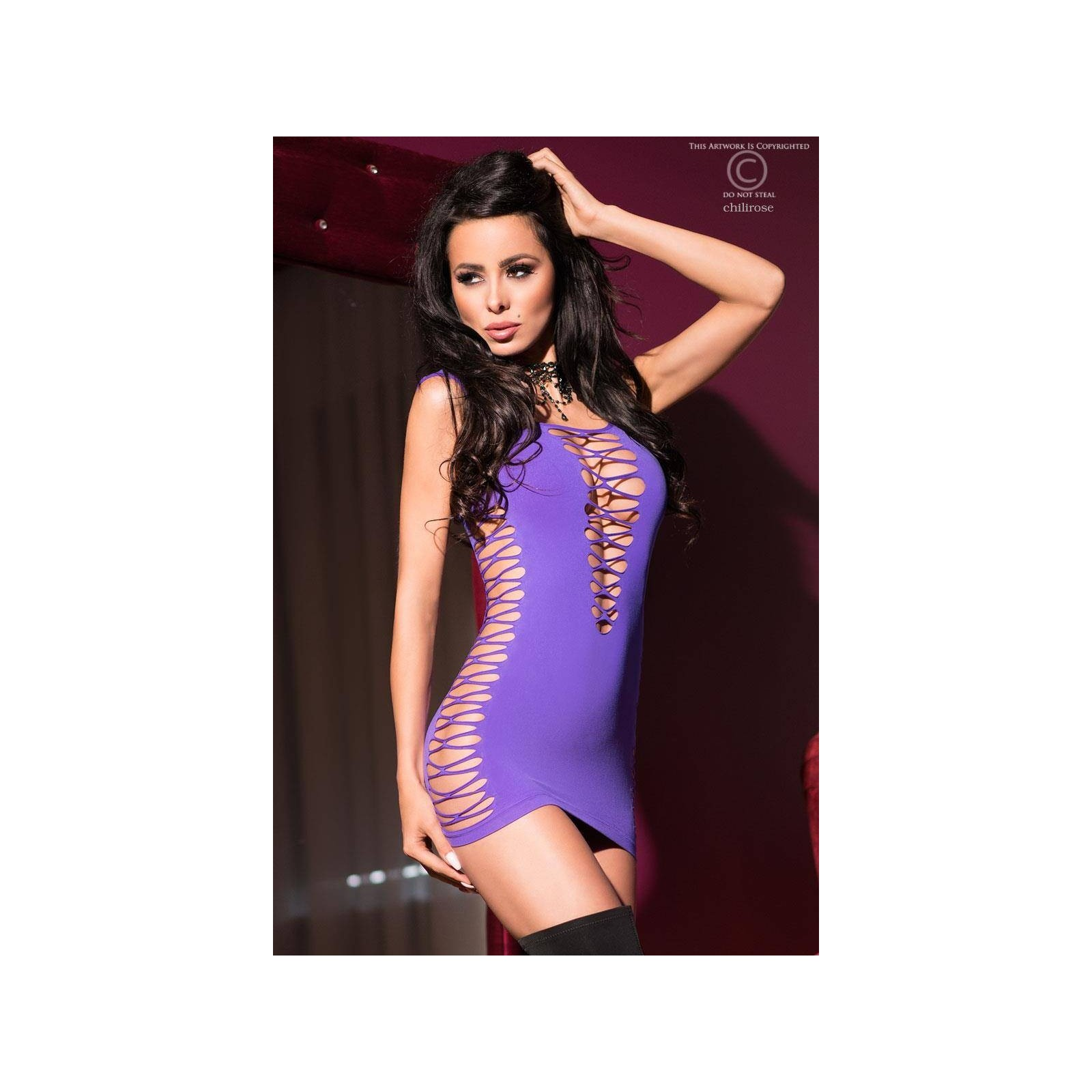 Minikleid CR4096 violett - 1 - Vorschaubild