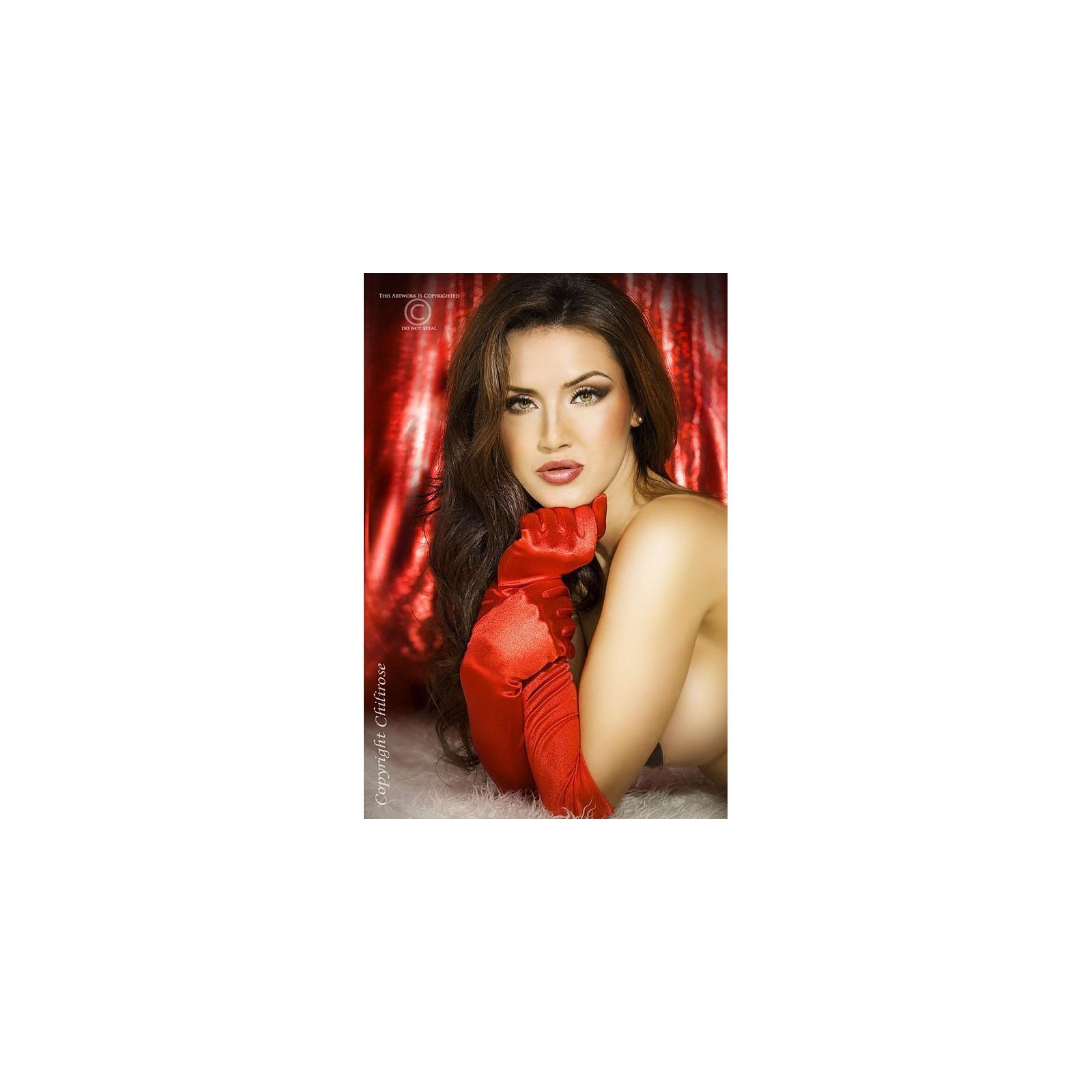 Satin-Handschuhe rot CR3312 - 1 - Vorschaubild