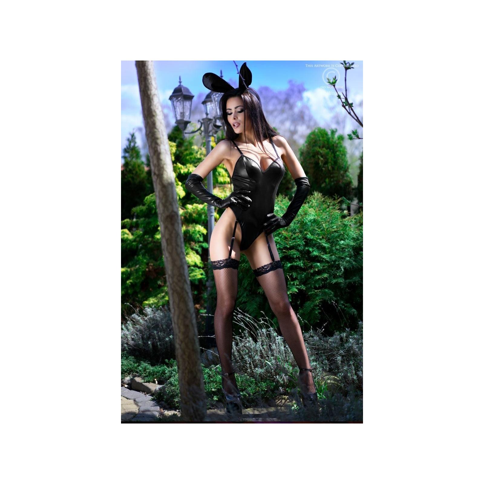 Bunny-Kostüm CR4124 schwarz - 5 - Vorschaubild