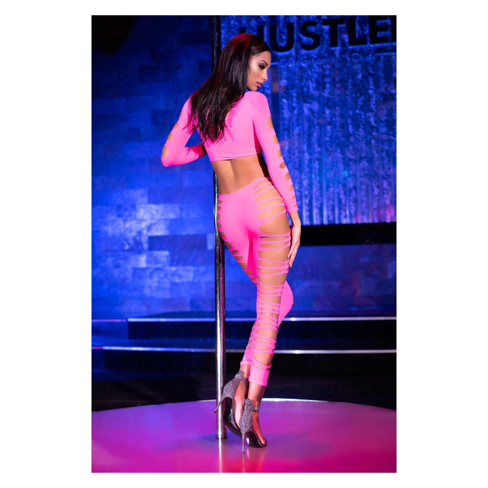 Top + Leggings CR3654 pink - 2 - Vorschaubild