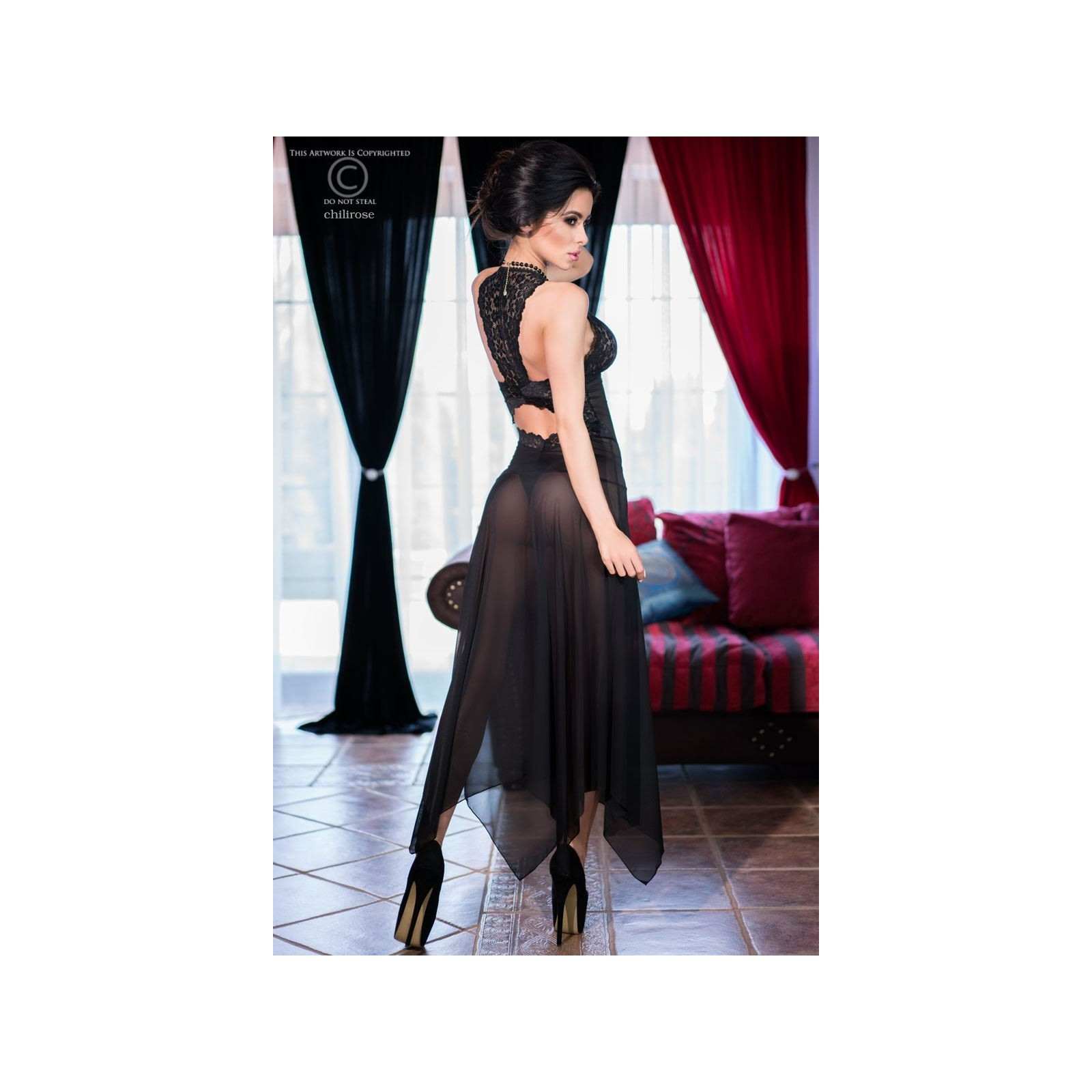 Gown CR4146 schwarz - 4 - Vorschaubild